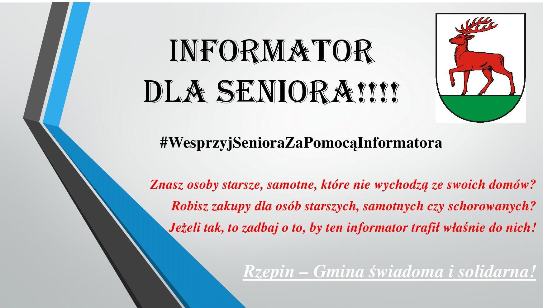 Ilustracja do informacji: #WesprzyjSenioraZaPomocąInformatora