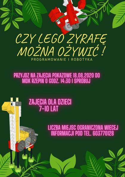 Ilustracja do informacji: ZAPRASZAMY NA ZAJĘCIA Z LEGO EDUCATION WE DO 2.0